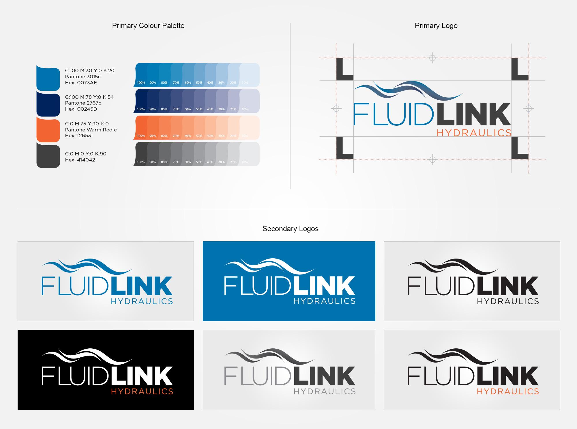 Fluidlink Logo & Brand identity Design