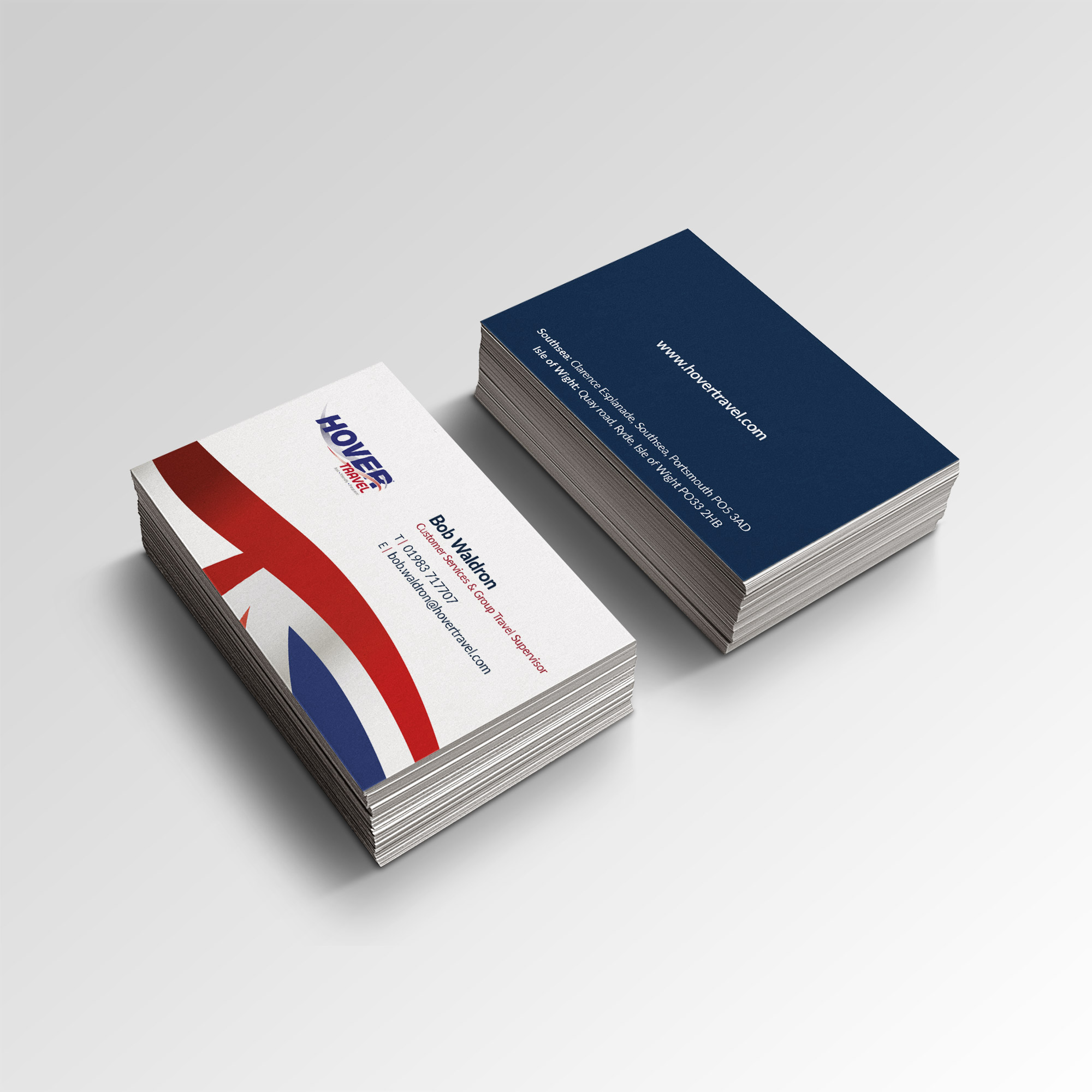 Hovertravel Business card stationery design