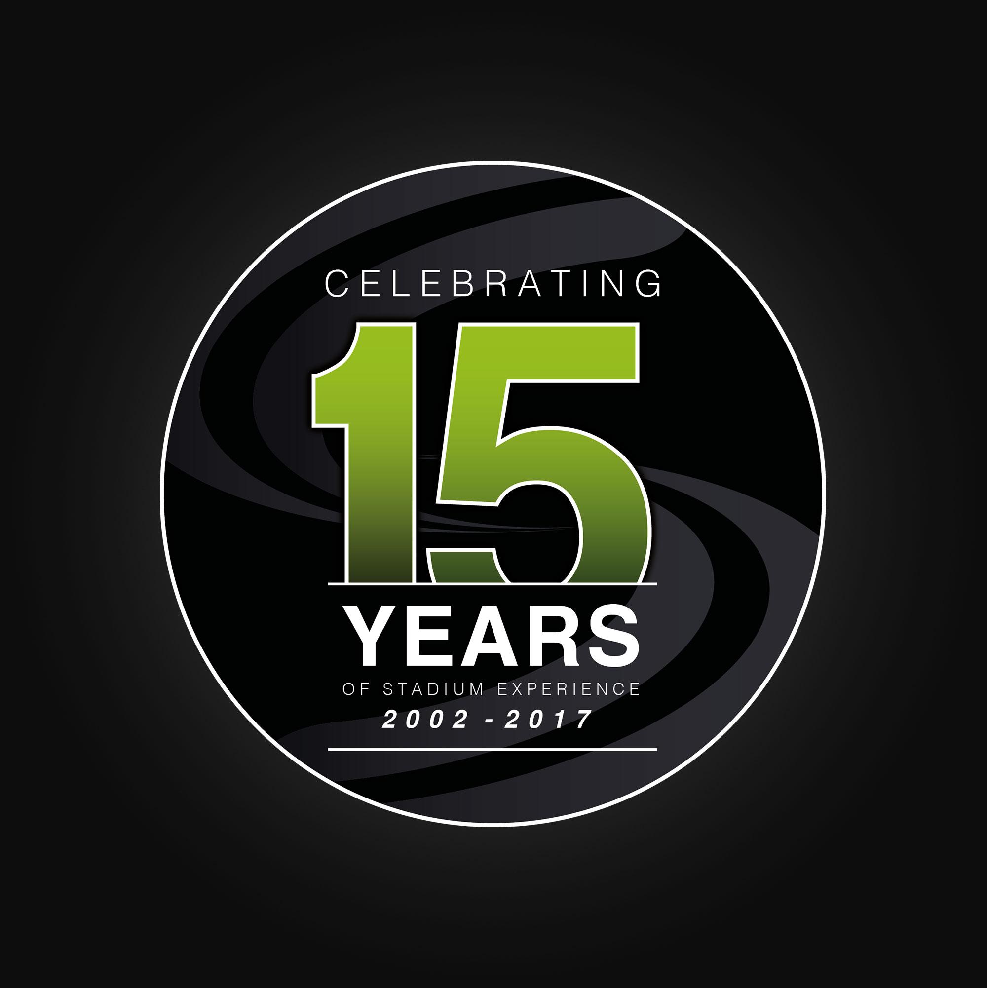 Stadium Experience Anniversary logo design