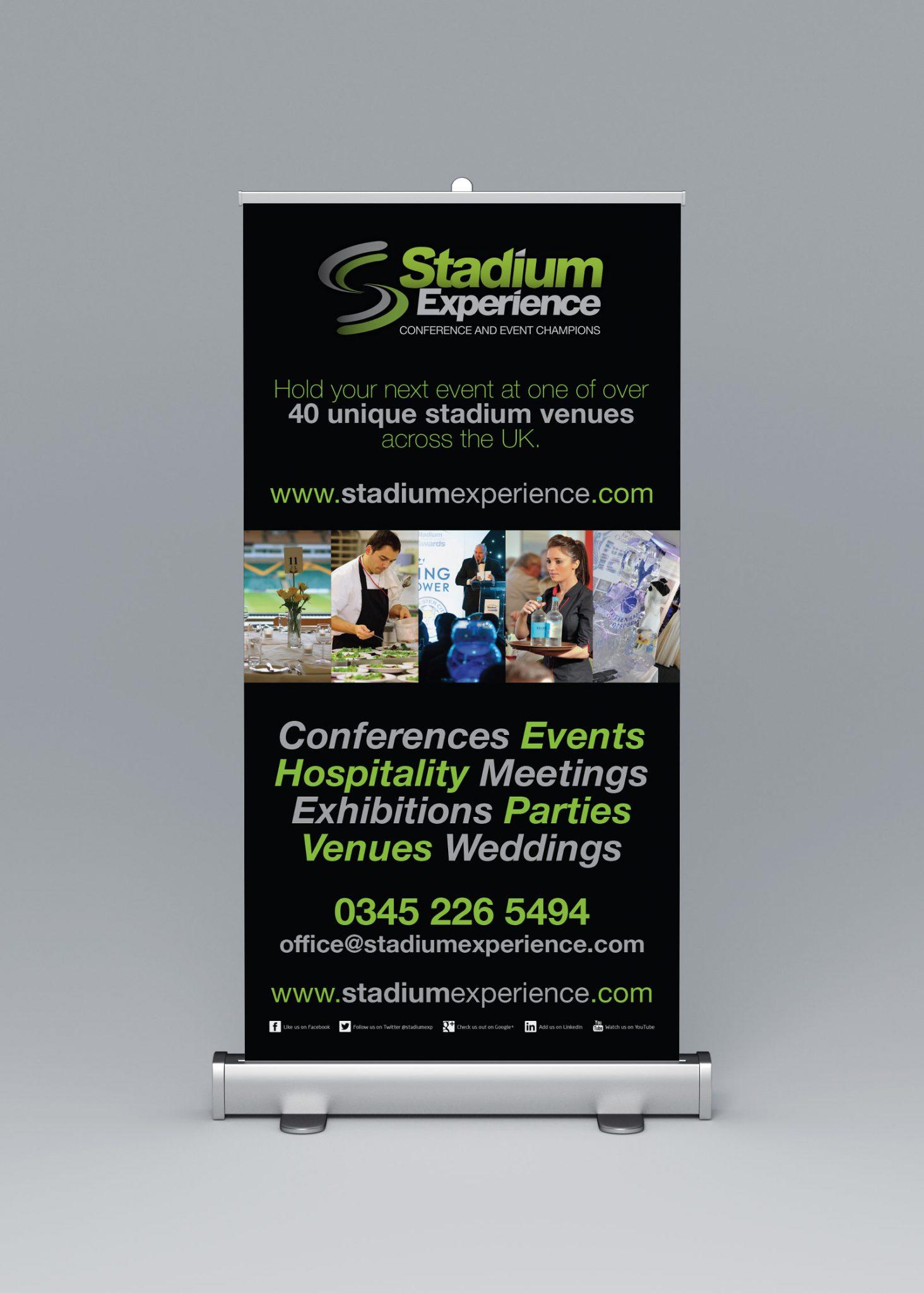 Stadium Experience Rollup Banner design